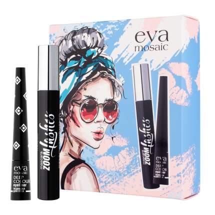 Набор декоративной косметики Eva Mosaic Deep Color Eyeliner&Mascara Zoom Lashes Set