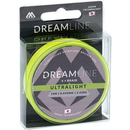 Леска плетеная Mikado Dreamline Ultralight 0,04 мм, 10 м, 2,53 кг