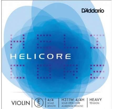 Одиночная струна E для скрипки D'Addario H311W 4/4M с обмоткой