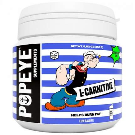 Popeye Supplements L-карнитин тартрат 250 г, клубника-лайм