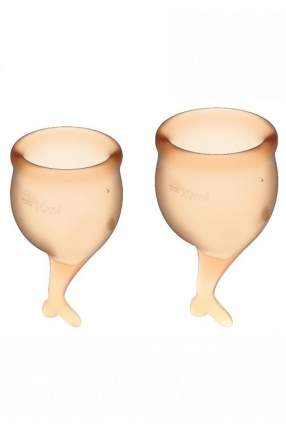 Набор менструальных чаш satisfyer feel secure menstrual cup (orange)