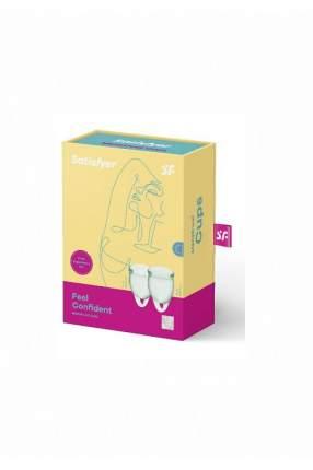 Набор менструальных чаш Satisfyer Feel confident Menstrual Cup (light green)