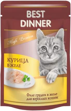 Влажный корм для кошек Best Dinner High Premium, c курицей в желе, 24шт по 85г