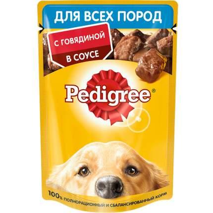 Влажный корм для собак Pedigree для всех пород , говядина,  85г