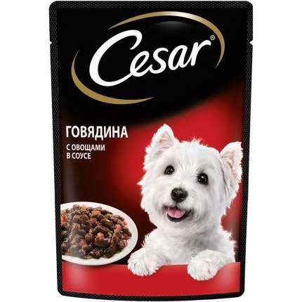 Влажный корм для собак Cesar для пород среднего размера , овощи, говядина,  85г