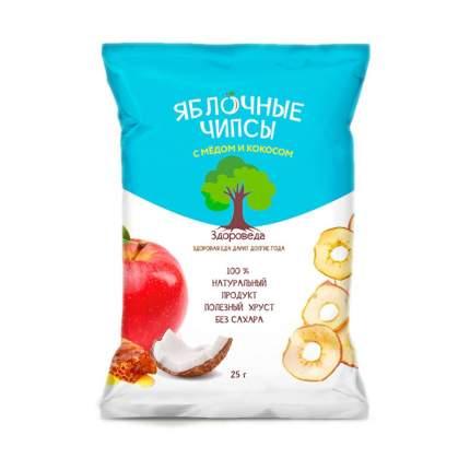 Чипсы Здороведа яблочные с медом и кокосом 25 г
