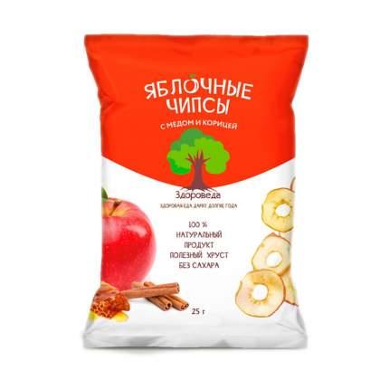 Чипсы Здороведа яблочные с медом и корицей 25 г