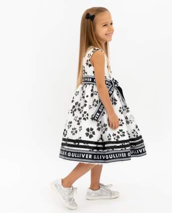 Платье для девочек Gulliver, цв. белый, р.128