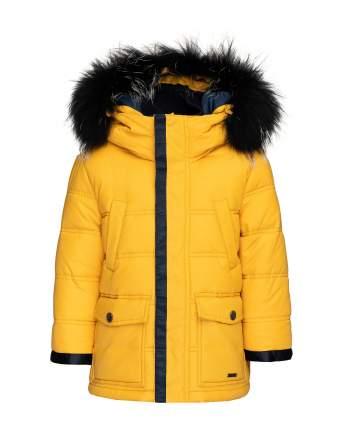 Куртка для мальчиков Gulliver, цв. желтый, р.110
