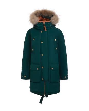 Пальто для мальчиков Gulliver, цв. зеленый, р.146