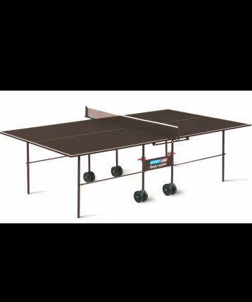 Теннисный стол Start Line УТ-00002378 коричневый, с сеткой
