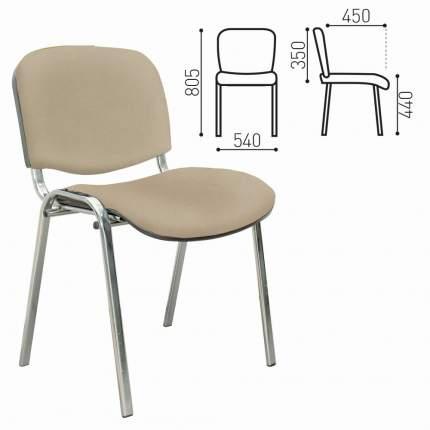Офисный стул NoBrand ИЗО 226650, серебристый/бежевый