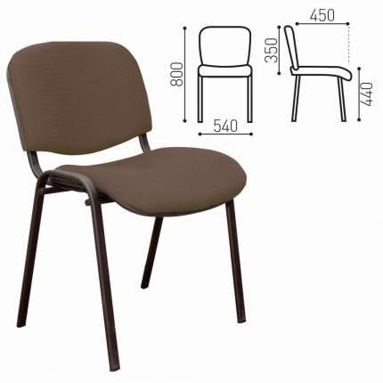 Офисный стул NoBrand ИЗО 226602, черный/коричневый