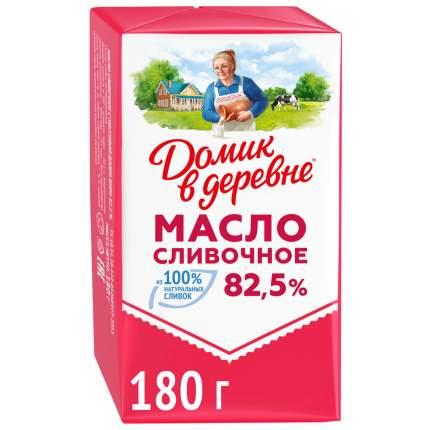 Масло Домик в деревне  сливочное натуральное 82.5% 180 г
