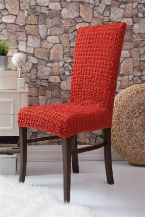 Чехлы на стулья без оборки Venera, красный, комплект 6 штук