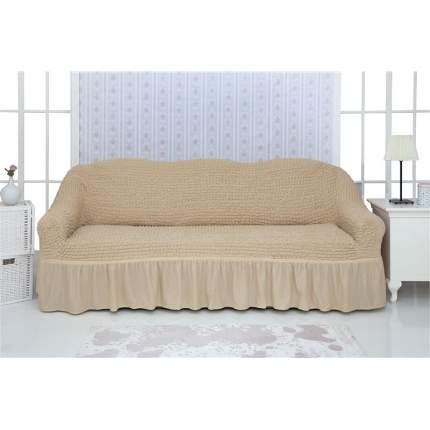 """Чехол на трехместный диван с оборкой CONCORDIA """"Triple sofa"""", цвет: светло-бежевый"""