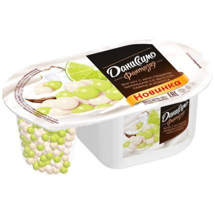 Йогурт Даниссимо Фантазия с хрустящими шариками кокос лайм 0.07% 105 г