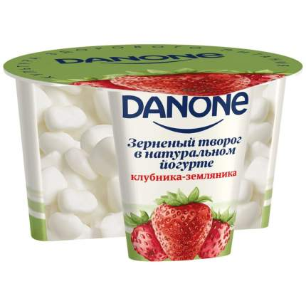 Творог данон зерненый в йогурте бзмж клубника/земляника жир. 5 % 150 г пл/б данон россия