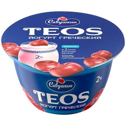 Йогурт Савушкин греческий вишня 2% 140 г