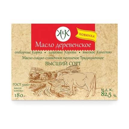 Масло Деревенское подворье деревенское традиционное сладко-сливочное несоленое 82.5% 180 г