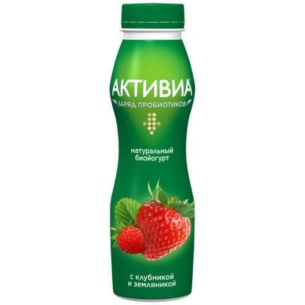 Биойогурт Активиа питьевой с клубникой и земляникой 2 % 260 г