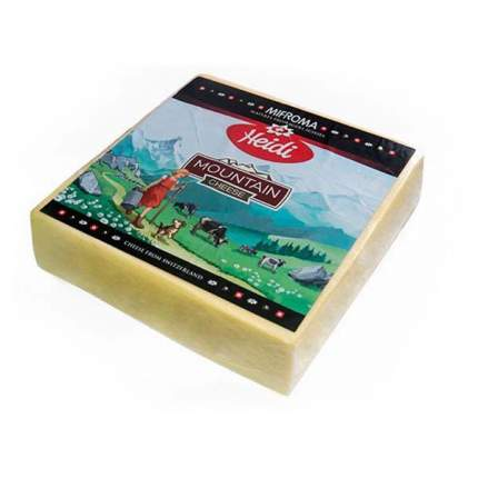 Сыр Хайди швейцарский горный твердый 52%