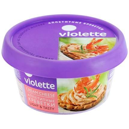 Сыр Violette творожный с креветками 70% 140 г