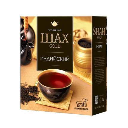 Чай черный Шах Gold Индийский 100 пакетиков