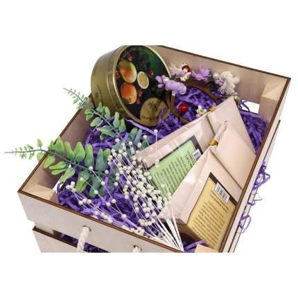 """Набор для оформления подарка """"Фиолет"""", ящик 25*30 см, белый 560268"""