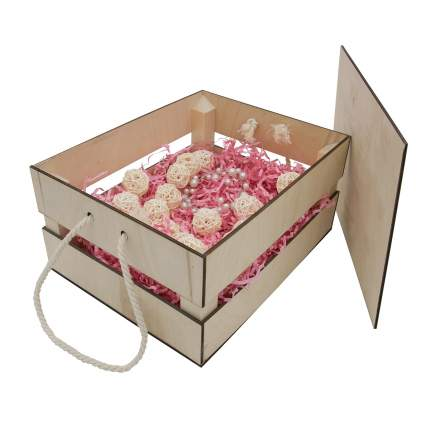 Набор для оформления подарка Маффины, ящик 25*20 см, белый 560265