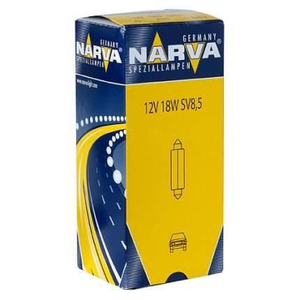 Лампа 12V C18W SV8.5-8 41мм двухцокольная NARVA