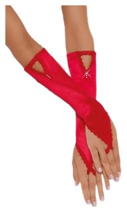 Перчатки атласные короткие SoftLine Collection, красный, S/L 771030