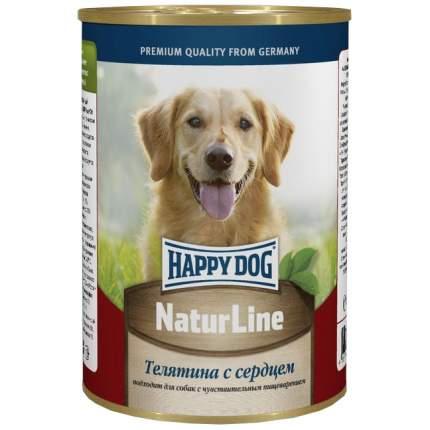Консервы для собак Happy Dog NaturLine, телятина, сердце, 400г