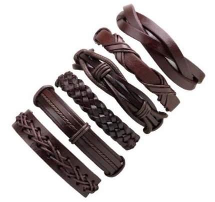 Браслет кожаный Punk Rock 45490-03 коричневый