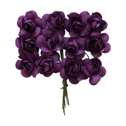 Набор декоративных цветов Астра MH1-T010 D=2x2см, 24шт