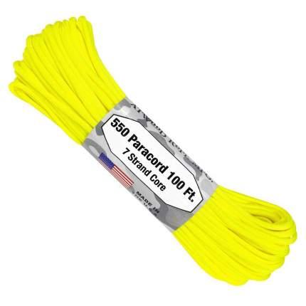 Паракорд 550 AtwoodRope 100ft (USA), neon yellow