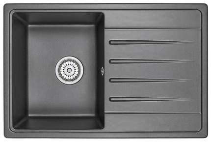 Мойка кухонная кварцевая Granula Standart ST-7602 черный