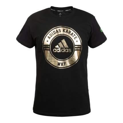 Футболка Adidas Combat Sport T-Shirt Karate WKF, черно-золотой, S INT