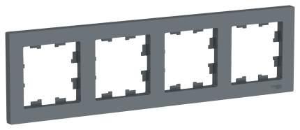 Рамка Schneider Electric AtlasDesign 4-ая Грифель