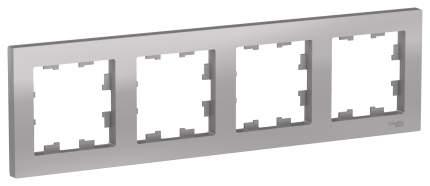 Рамка Schneider Electric AtlasDesign 4-ая Алюминий