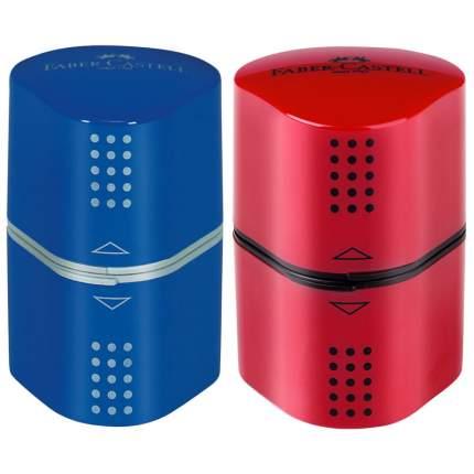 Точилка пластиковая Faber-Castell Trio Grip 20013 отверстия 2 контейнера Цвет ассорти