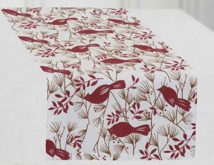 Дорожка на стол Guten Morgen gmg593702 Дорожка столовая «Свиристель» рогожка наб. 40х140