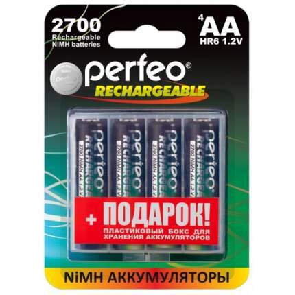 Аккумуляторные батарейки Perfeo AA2700mAh 4 шт+BOX  /PF AA2700/4BL+BOX