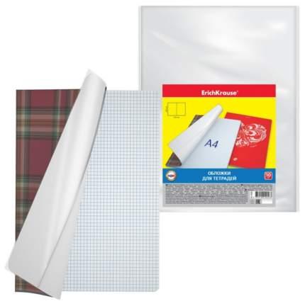 Обложки пластиковые ErichKrause для тетрадей, 300х210мм, 0.05мм, комплект 10шт