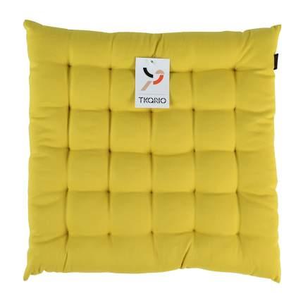 Подушка на стул горчичного цвета из коллекции wild, 40х40 см