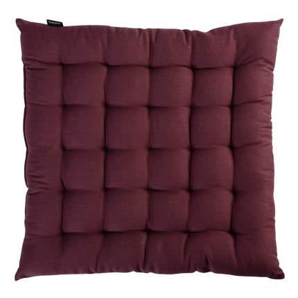 Подушка на стул бордового цвета из коллекции wild, 40х40 см