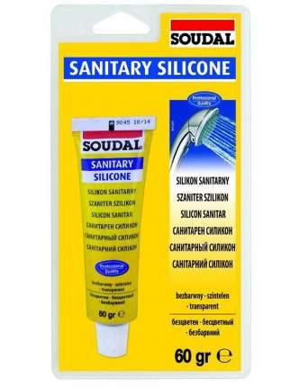Санитарный силикон SOUDAL блистер 60 гр. Бесцветный