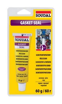 Высокотемпературный силикон Gasket Seal SOUDAL 60 мл красный