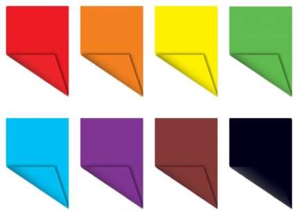 Бумага цветная ArtBerry Попугай, двусторонняя в папке А4, 16 листов, 8 цветов, игрушка-наб
