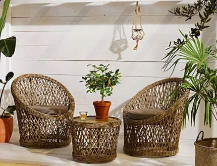 Набор садовой мебели Kaemingk Фес 169844-Kaemingk brown; gray 3 предмета